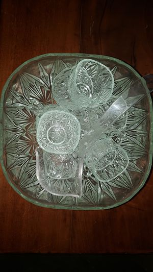 Crystal punch bowl set for Sale in Welches, OR
