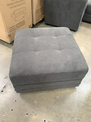 Grey Ottoman NEW in box for Sale in Sunrise, FL
