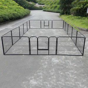 New 24 inch tall x 32 inch wide each panel x 16 panels heavy duty exercise playpen adjustable fence safety gate dog cage crate kennel for Sale in Whittier, CA
