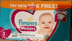 Pampers Cruisers Size 3 Baby Diapers 146 Count NEW in Box for Sale in Lorain, OH
