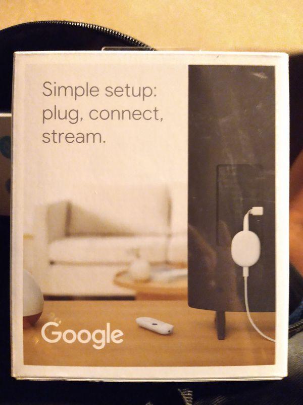 Google Chromecast w/ Google tv UNOPENED
