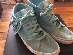 Girls Vans Blue high tops with fringe for Sale in Portland, OR