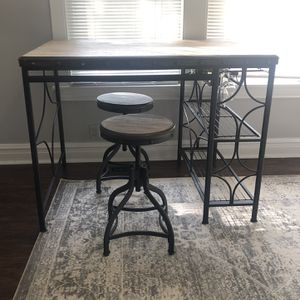 Industrial Counter Height Table Stools Wine Rack for Sale in Chicago, IL
