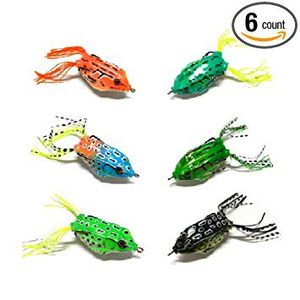 6 Pack Hollow Body Bass Fishing Topwater Frog Lure - Fast Shipping - Snakehead, Peacock, Pike, Christmas Present for Sale in Margate, FL
