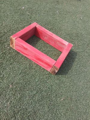 $5 MUST PICK UP 73RD AVE AND INDIAN SCHOOL cute red little planter box :) or wall shelf Size is 14 in by 10 and 1/2 in for Sale in Phoenix, AZ