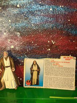 Star Wars Obi Wan Kenobi Action Figure Lightsaber Filecard Kenner Vintage 1990's for Sale in Tigard,  OR