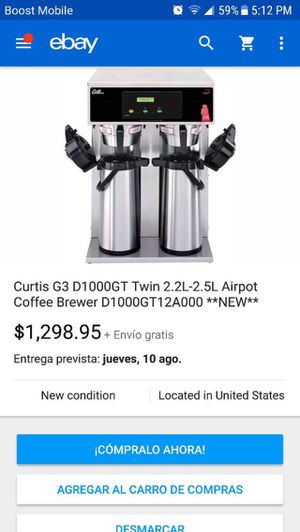 Curtis Double coffee brewer TAKE OFFER like NEW for Sale in Duvall, WA