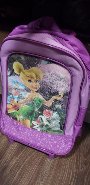 Tinkerbell brand new backpack on rollers for toddler for Sale in Garden Grove, CA
