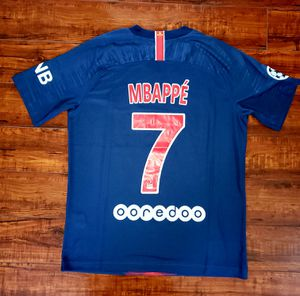 New PSG Home soccer Jersey 19/20 champion league Mbappe size Medium for Sale in Alexandria, VA