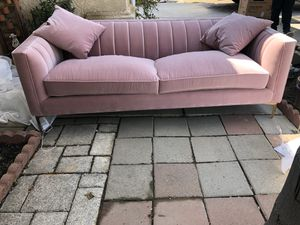Brand new pink velvet sofa. Retails for over $1800 for Sale in Fowler, CA