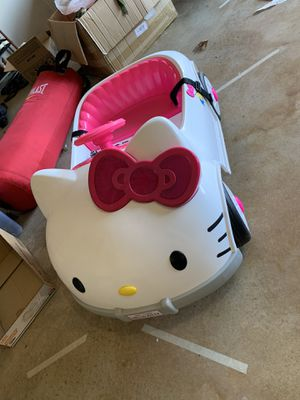 Hello kitty kids ride. Electrical kids car for Sale in Mansfield, TX