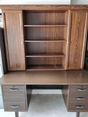Wooden Desk with Hutch for Sale in Houston, TX