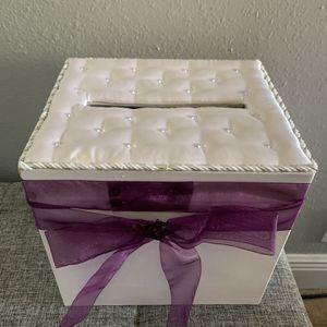 Satin Wedding Card Box for Sale in Land O Lakes, FL