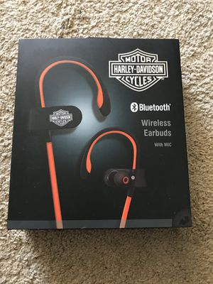 Harley Davidson wireless Bluetooth headphones with mic - brand new! for Sale in Baltimore, MD
