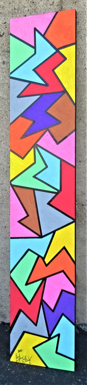 48x9.5 ORIGINAL SIGNED PAINTING. PAINT ON BOARD. BRACKETS APPLIED ALLOWING TO HANG EITHER WAY! for Sale in Cincinnati, OH