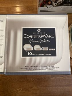 French White 10-Pc. Bakeware Set by Corningware for Sale in Fairfax,  VA