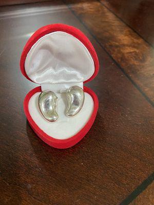 Tiffany & Co Elsa Peretti Silver Teardrop Clip-On Large Earrings for Sale in Riverside, CA