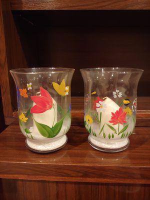 2 glass decorative votives for Sale in Palatine, IL