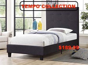 Linen Fabric Full Platform Bed Frame, 7566 for Sale in Downey, CA