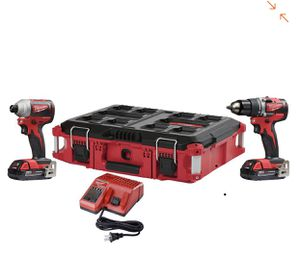 Vendo herramientas nuevas Milwaukee M18 18-Volt Lithium-Ion Brushless Cordless Drill/Impact Combo Kit (2-Tool) W/ (2) 2.0Ah Batteries and Packout Case for Sale in US