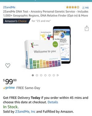23andMe health and ancestry DNA saliva collection kit for Sale in Los Angeles, CA