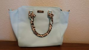 BCBG Baby Blue Leather Purse Cheetah for Sale in San Diego, CA