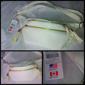 All white and gold fanny pack for Sale in Pawtucket, RI