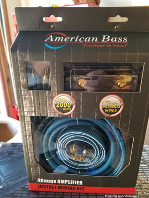 American bass 4 guage amplifier wire kits new for Sale in Columbus, OH