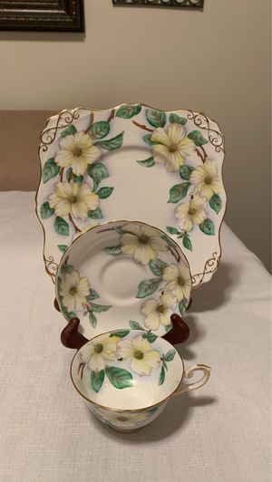 Tuscan bone China cup & saucer with sandwich plate Dogwood pattern for Sale in Pasco, WA
