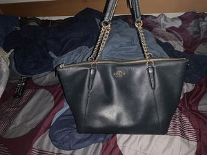 All black Coach tote bag for Sale in Boynton Beach, FL