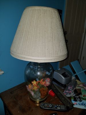 Two glass lamps, can fill with almost anything for Sale in Newport News, VA