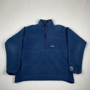Patagonia Synchilla Navy Fleece Half Zip Pullover Sweater Size Large for Sale in Los Angeles, CA