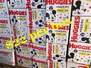 Huggies snug dry size 1,2,3,4,5,6 for Sale in Bellflower, CA