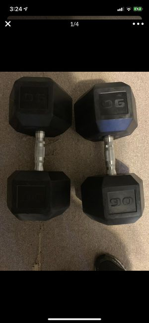 2 90 pound cap hex dumbells , almost $100 off for Sale in Yonkers, NY