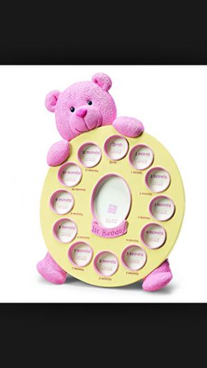 Russ Berrie, My First Teddy First Year Frame, Pink for Sale in Germantown, MD