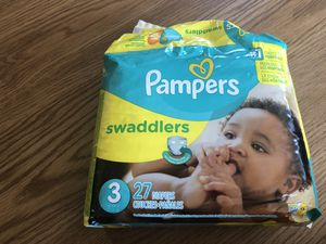 Pampers Swaddlers 27 count unopened packet. for Sale in Seattle, WA