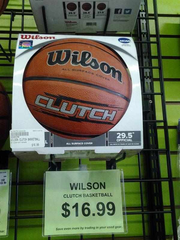 Wilson Clutch basketball, new