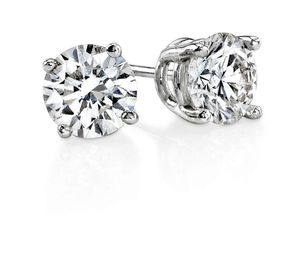 0.9 Ct 4 Prong Set Round Cut Diamond Stud Women Earring for Sale in New York, NY