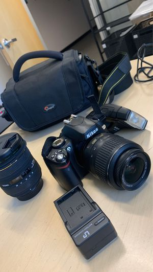 Nikon D60 with 2 lenses and more for Sale in Sunnyvale, CA
