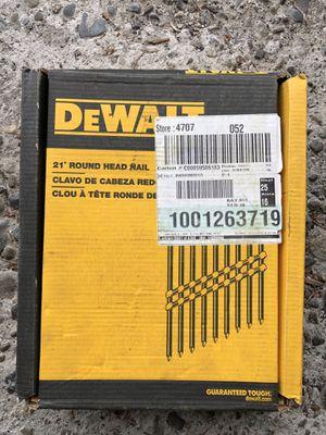 """DEWALT 2-3/8"""" X 0.113"""" RING SHANK FRAMING NAILS (2000-PACK) for Sale in Bellevue, WA"""