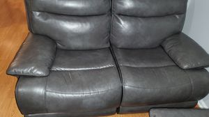 Gray leather power recline sofa and love seat with 4 USB ports for Sale in New York, NY