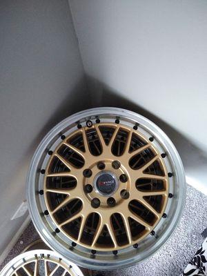 4 Gold drag wheels 4x100 for Sale in Smyrna, TN