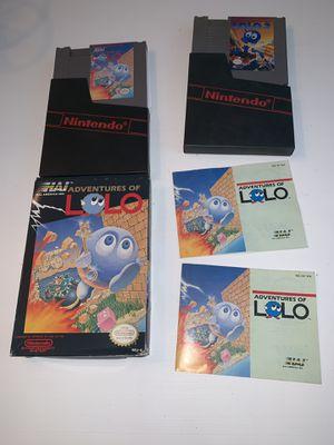 Nintendo NES Lolo bundle for Sale in Stoughton, MA