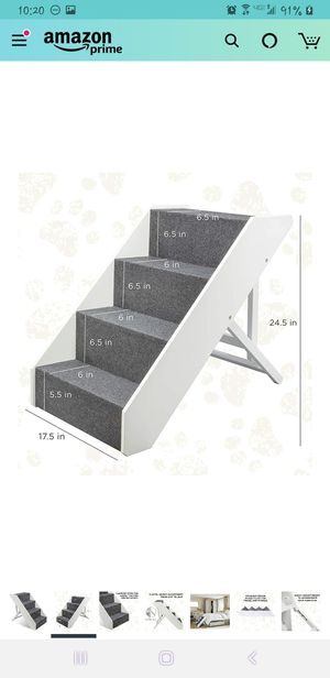 New pet stairs for cat or dog adjustable height collapses for Sale in San Diego, CA