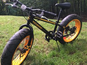 Mongoose wide tire bike totally redone no damage $175 firm for Sale in Westport, ME