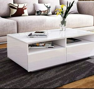 Brand new modern design coffee table with Led lights for Sale in Atlanta, GA