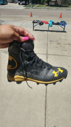 Batman Football cleats size 5 for Sale in Sanger, CA