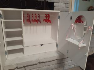 Doll closet, great for American girl dolls too for Sale in Hemet, CA
