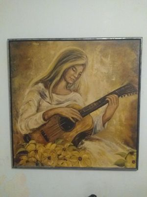 Lady with a guitar painting for Sale in Carmi, IL