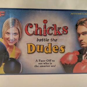 Chicks Battle The Dudes Board Game for Sale in Smithville, MO